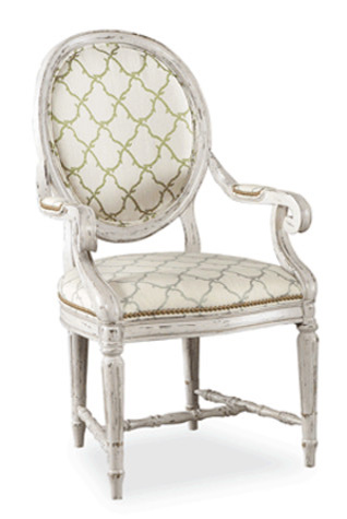Hickory White - Upholstered Back Arm Chair - 631-63