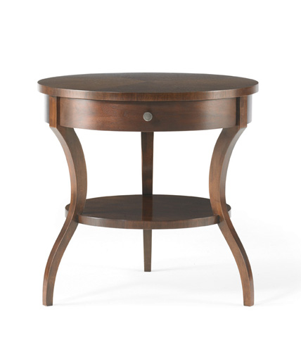 Image of Tiered Round End Table