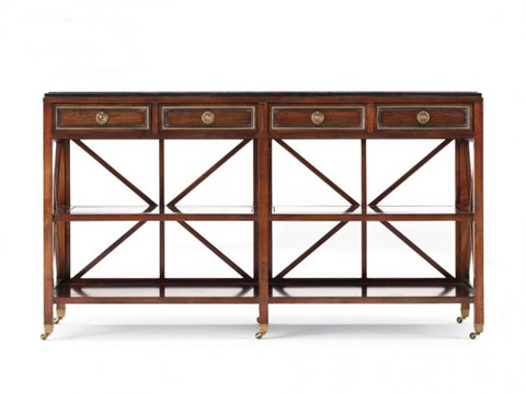 Image of Four Drawer Console Table