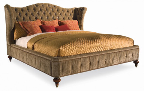 Hickory White - King Upholstered Wing Bed - 735-21T