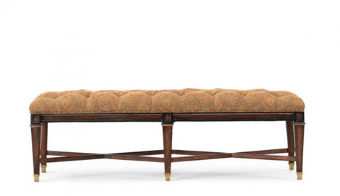 Image of Tufted Upholstered Bench