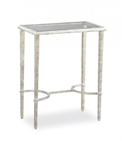 Image of Glass Top Side Table