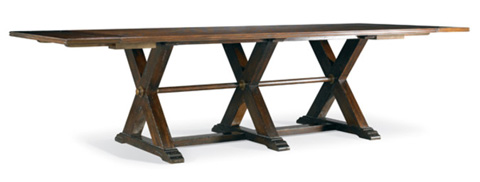 Hickory White - Rectangular Trestle Dining Table - 860-12