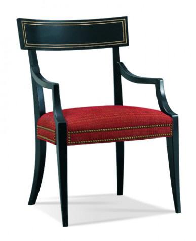 Hickory White - Klismos Arm Chair - 901-65
