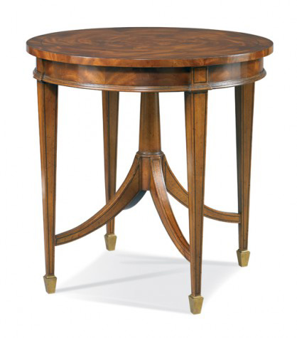 Hickory White - Round Lamp Table - 893-25
