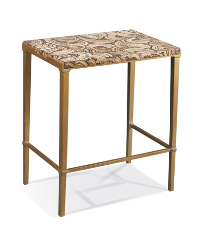 Hickory White - Bailey Side Table in Gold - 903-27G