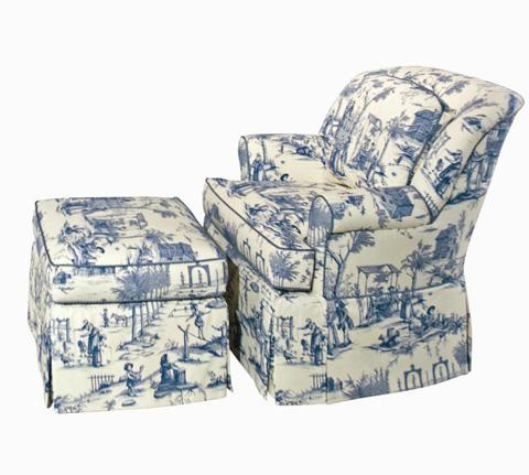 Image of Sarah Skirted Chair and a Half