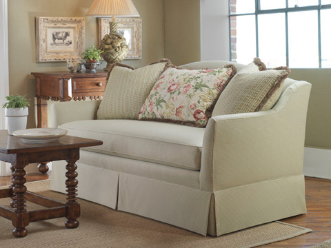 Highland House - Anna Skirted Sofa - 3090-84