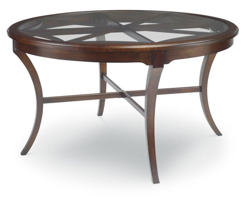 Highland House - Virginia Round Glass Top Cocktail Table - HH19-301