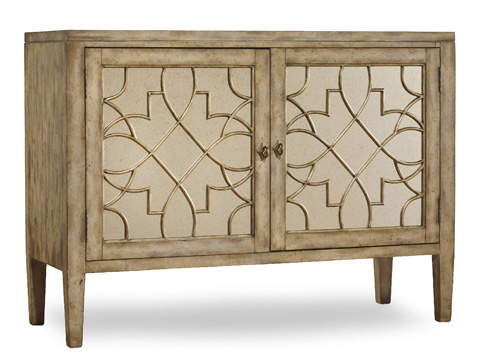 Image of 2 Door Mirrored Console Cabinet