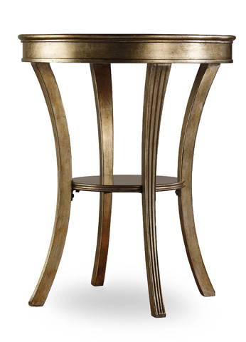 Image of Round Mirrored Accent Table