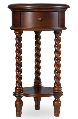 Image of Inlay Top Round Accent Table