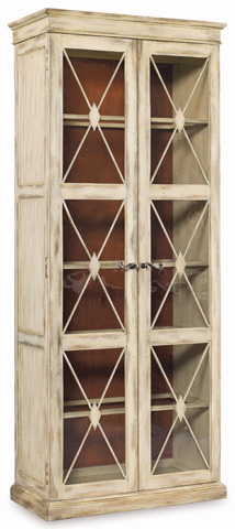 Image of Sanctuary Two-Door Thin Display Cabinet - Dune