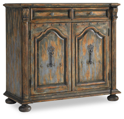 Image of Two-Door Two-Drawer Chest w/Bun Feet