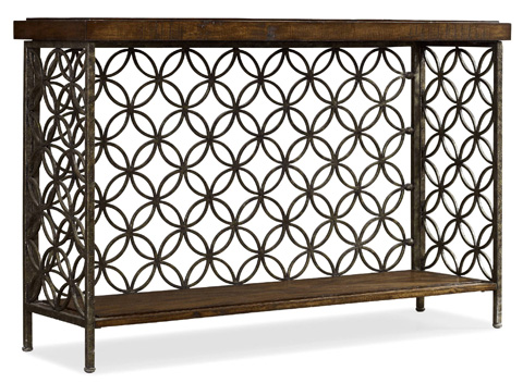 Image of Console Table w/Patterned Iron