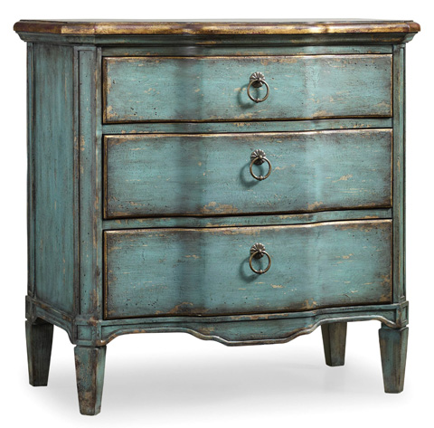 Image of Three Drawer Turquoise Chest
