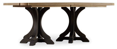 Hooker Furniture - Corsica Dark Rectangle Pedestal Dining Table - 5280-75216