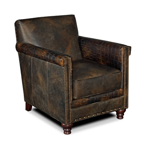 Hooker Furniture - Old Saddle Fudge Crocodile Leather Club Chair - CC719-01-089