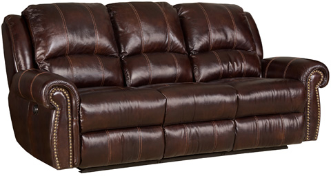 Image of Saddle Brown Power Motion Sofa