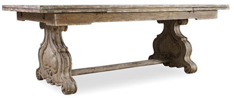 Hooker Furniture - Rectangular Trestle Dining Table with Leaves - 5350-75206