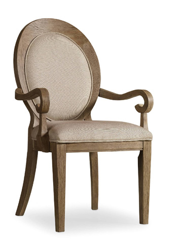 Hooker Furniture - Oval Back Arm Chair - 5180-75402