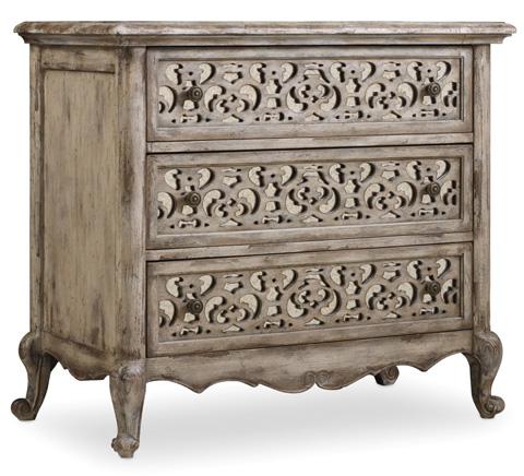 Hooker Furniture - Three Drawer Fretwork Nightstand - 5350-90016