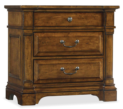 Image of Three Drawer Nightstand