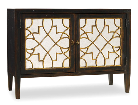 Hooker Furniture - Two Door Mirrored Console in Ebony - 3005-85006