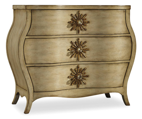 Hooker Furniture - Sanctuary Three Drawer Bombe Chest - 3028-85001
