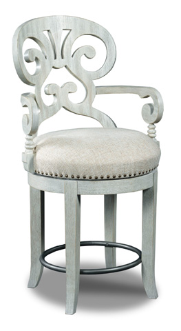 Hooker Furniture - Mimosa Cottage Fabric Counter Stool - 300-25006