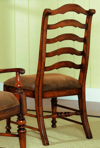 Image of Waverly Place Fabric Ladderback Side Chair