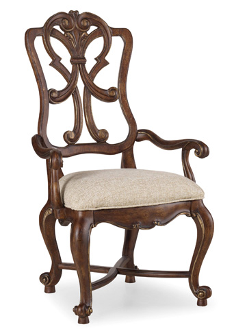 Hooker Furniture - Adagio Wood Back Arm Chair - 5091-75401