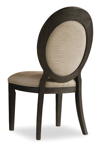 Image of Corsica Dark Oval Back Side Chair