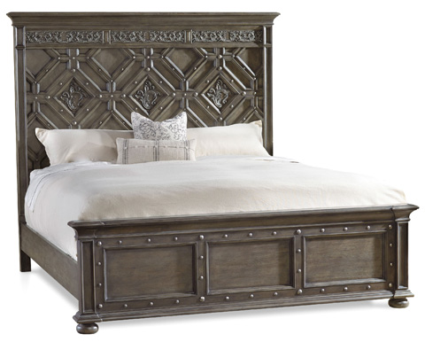 Image of Vintage West King Wood Panel Bed