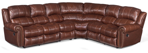 Image of Cognac Four Piece Sectional