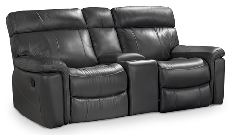 Image of Gray Motion Three Piece Motion Entertainment Sofa