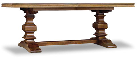 Hooker Furniture - Archivist Trestle Dining Table - 5447-75206-TOFFEE