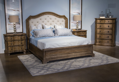 Image of Solana Collection Queen Upholstered Bedroom Set