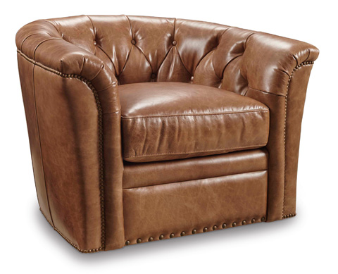 Image of Huntington Ambrose Swivel Club Chair