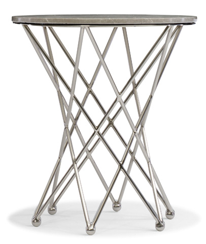 Image of East Village Round End Table with Marble Top