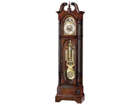 Howard Miller Clock Co. - Stewart Mahogany Hall Clock - 610-948