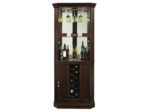 Howard Miller Clock Co. - Piedmont III Wine and Bar Cabinet - 690-007