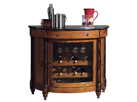 Howard Miller Clock Co. - Merlot Valley Wine and Bar Cabinet - 695-016