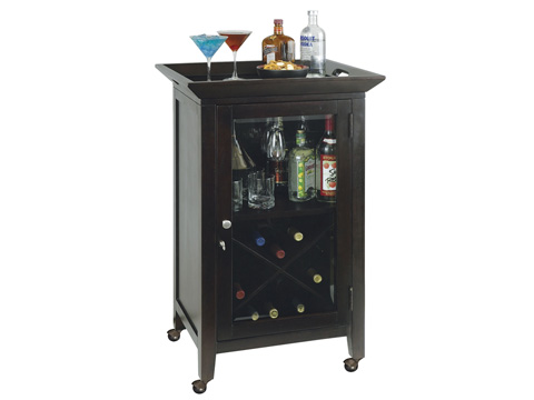 Howard Miller Clock Co. - Butler Wine and Bar Cabinet - 695-074
