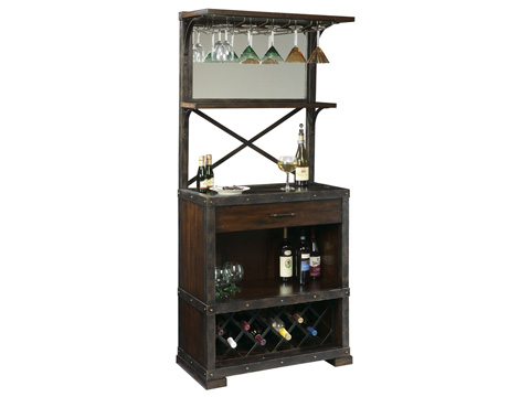 Howard Miller Clock Co. - Red Mountain Wine and Bar Cabinet - 695-138