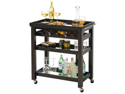 Howard Miller Clock Co. - Pienza Wine and Bar Cart - 695-166