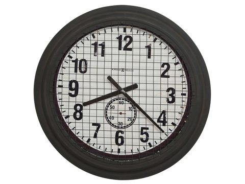 Image of Grid Iron Works Round Wall Clock