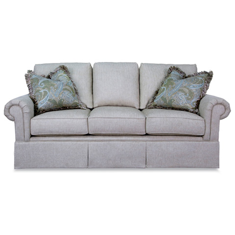 Three Cushion Sofa with Skirt