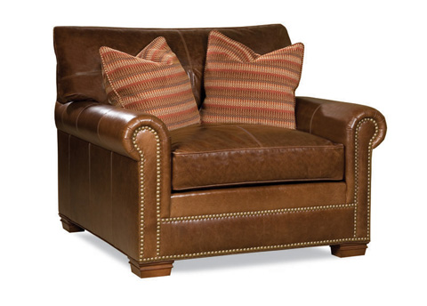 Image of Large Leather Arm Chair