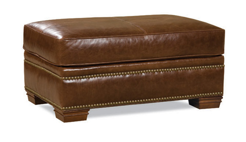 Image of Leather Ottoman